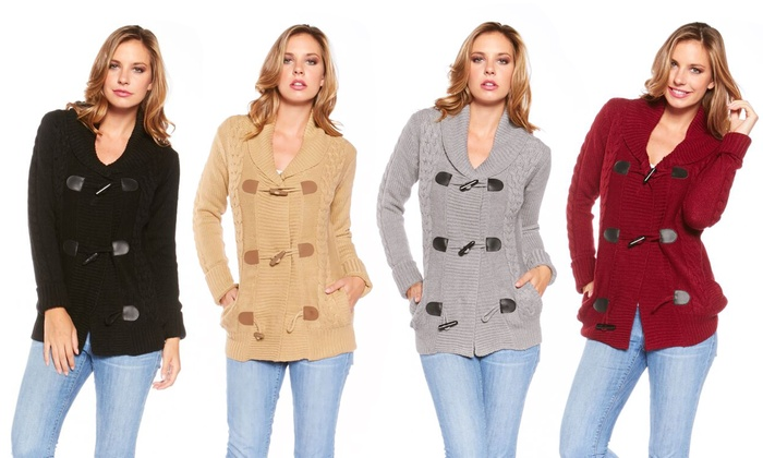 Women's Toggle Cardigan with Shawl Collar | Groupon