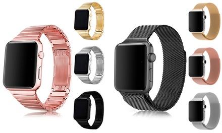 Diferentes modelos de correas para Apple watch disponibles en varios modelos y dos tamaños