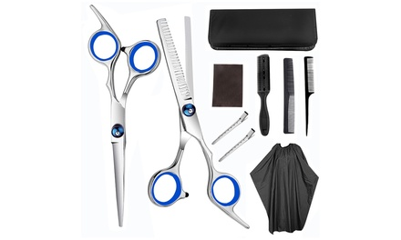 NinePiece Professional Hair Cutting Scissors Set: One $28 or Two $44