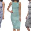 Women's Sleeveless Printed Bodycon Dress