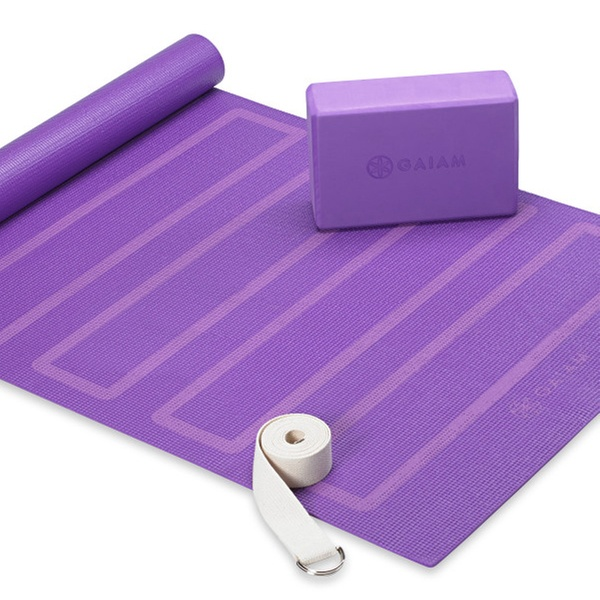 d5d64396157bc7 Up To 20% Off on Gaiam Yoga Mat, Block, and Strap | Groupon Goods