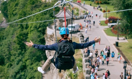 MistRider Zipline for One, Two, or Four at WildPlay Niagara Falls (Up to 20% Off)