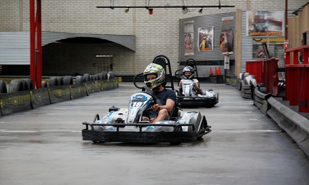 Two 20 Lap Go Kart Races and Hot Chips for One ($50) or Two People ($100) at Kart World (Up to $132 Value)