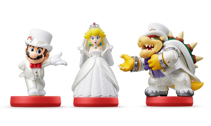 Pre Order Super Mario Odyssey Series Amiibo Figure Wedding Outfit Groupon