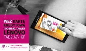 Alior Bank: 5 zł: karta kredytowa T-Mobile Usługi Bankowe oraz tablet Lenovo TAB2 A7-10F za aktywne używanie karty