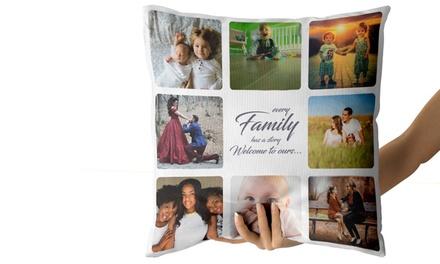 1 o 2 cojines con collage de fotos y mensaje personalizado desde 5,99 € en Personalised Gift Market