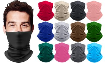 3-Pack Moisture-Wicking Breathable Stretch Neck Gaiter Face Mask