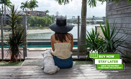 Sunshine Coast: 2-4N Pet-Friendly Stay for Two with Massage and Kayak and Paddleboard Hire at Saltwater Villas