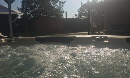 Ingresso Spa e piscina con massaggio