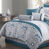 Reversible Embroidered Comforter Set (10-Piece)