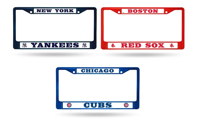 Up To 24% Off on MLB Colored Chrome License Plate | Groupon Goods