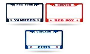 MLB Colored Chrome License Plate Frame