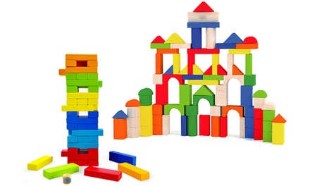 Childrens Wooden Building Blocks