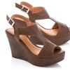 Lady Godiva Women's Open Toe Wedge Sandals (Size 7)