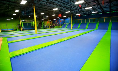 image for One-Hour Indoor Trampoline Session for Two at Jumping World, Valid Monday–Thursday or Any Day (Up to 50% Off)