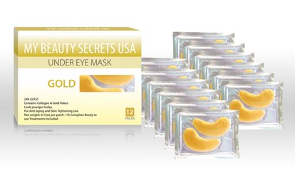 12 or 24 Anti-Aging 24K Gold Under Eye Masks from My Beauty Secrets USA (Up to 72% Off)