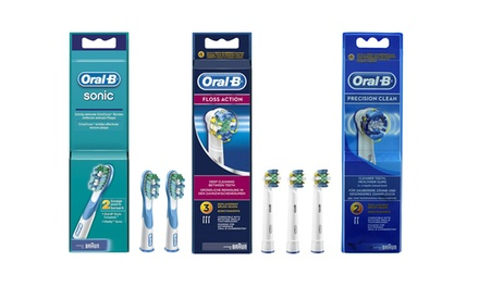 1 o 2 packs de 2 o 4 cepillos Oral B Floss Action, Oxyjet, Precision Clean o Sonic