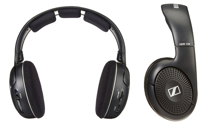 Sennheiser RS120 Wireless RF Headphones with Charging Dock