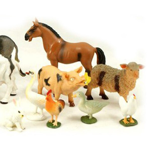 12-Piece Set of Farm Animals