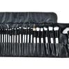 Makeup Brush Set with Vegan-Leather Travel Bag (32-Piece)