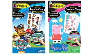 Colorforms Paw Patrol or Peppa Pig Create a Story Playset
