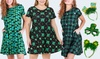 Style Clad Women's St Patrick's Dress with Headband or Glasses