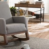 Crawley Modern Fabric-Upholstered Rocking Chair