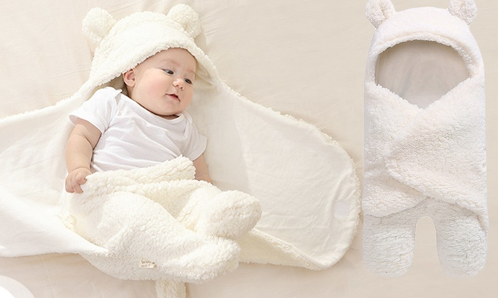 One or Two Newborn Thermal Swaddling Baby Blankets from £8.99