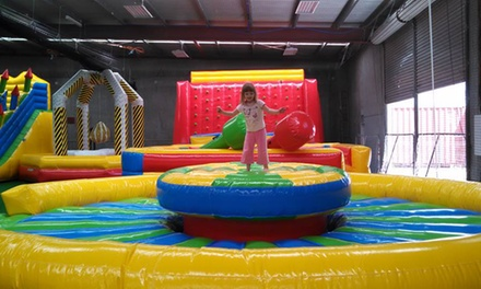 Play Centre Entry for Adult Plus Child Aged 4 & Under $6 or Over Five $9 or Family Pass $30 at Wally's Inflatables