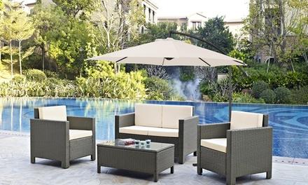 cantilever parasols groupon. Black Bedroom Furniture Sets. Home Design Ideas