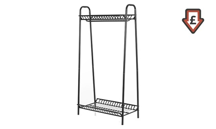 Vintage Style Metal Storage and Coat Rack from £29.99 With Free Delivery (Up to 25% Off)