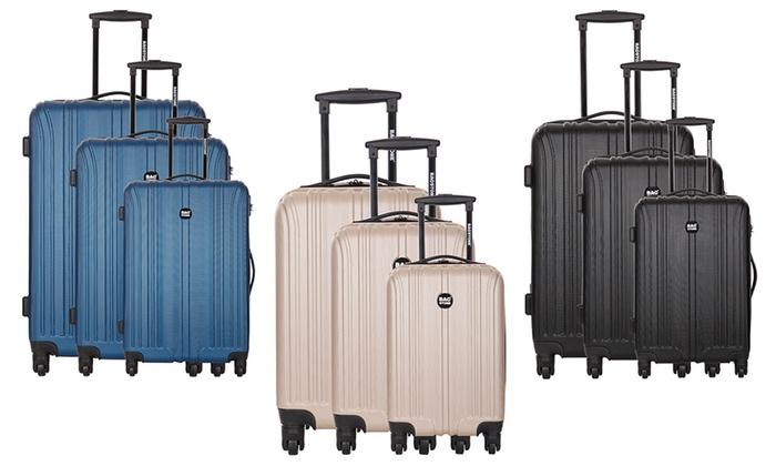 erkende merken concurrerende prijs professionele verkoop Set van 3 ABS koffers Platinium | Groupon Goods
