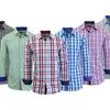 Men's Long Sleeve Slim Fit Plaid Shirts