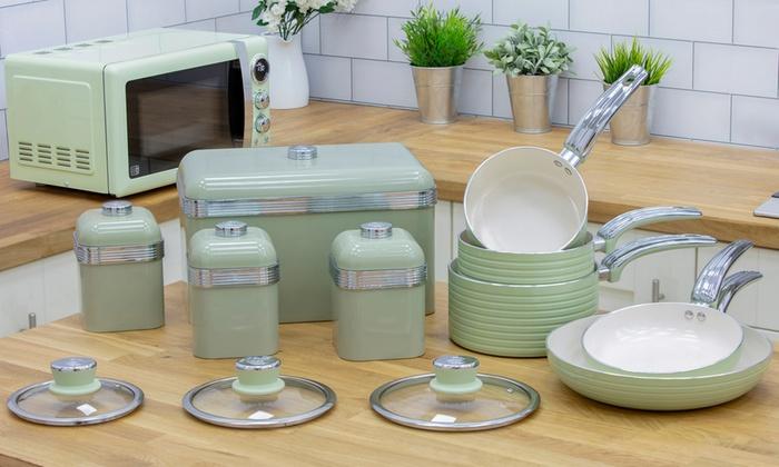 Retro Tabak Keukens : Swan retro ten piece kitchen set groupon goods