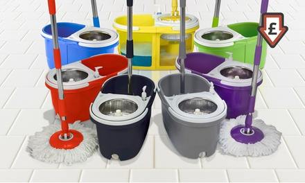 Dual Spin Mop with Accessories