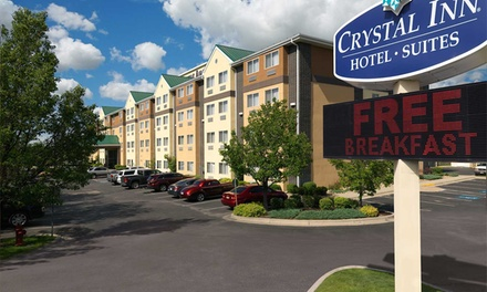 Stay at Crystal Inn Hotel & Suites Midvalley in Murray, UT. Dates into December.