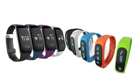 Bluetooth Sports Activity Smartwatch with Optional Heart-Rate Monitor from AED 69 (Up to 80% Off)