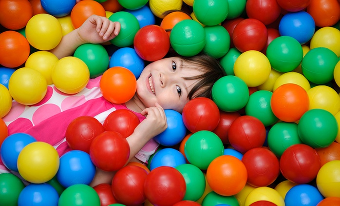 Playland Entry for One Child and One Adult on a Weekday ($6) or Weekend ($9) at Lollipop's Playland (Up to $15 Value)