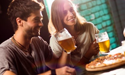 Menu pizza o panino con un litro di birra per 2 persone da Hops Beer and Food Gourmet (sconto fino a 62%)