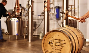 Fox River Distilling Company: Tour for Two or Four with Bloody-Mary Mix, Hats, and Rocks Glasses at Fox River Distilling Company (Up to 51% Off)