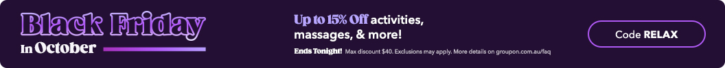 Use code RELAX and enjoy up to an extra 15% off Local. Ends tonight. Some deals excluded.