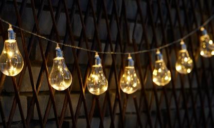 1 of 2 Solar lichtslingers met 10 Globrite LED lampen