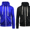 Galaxy By Harvic Men's Knit Hoodie with Contrast Zipper Trim (2-Pack)
