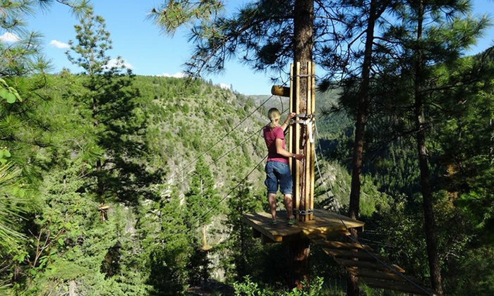 Myra Canyon Adventure Park - Myra Canyon Adventure Park: Ropes and Challenge Course for One or Two Adults at Myra Canyon Adventure Park (Up to 38% Off)