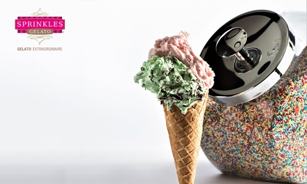 Two Scoops of Gelato and Two Toppings for Up to Four at Sprinkles Gelato, Two Locations (28% Off)