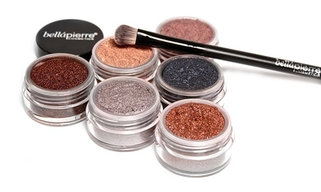 Bellapierre Cosmetics Eye Shadow and Brush Set (7-Piece)