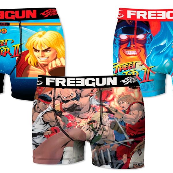 3 Pack Freegun Assortis Ou Enfant Pour Homme Boxers 6 De Fighter Street Aléatoires pGUSqMzV