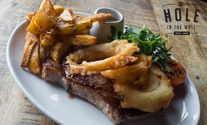 image for 10oz Rib-Eye Steak Meal for Two at The Hole in The Wall Market Tavern and Kitchen (50% Off)