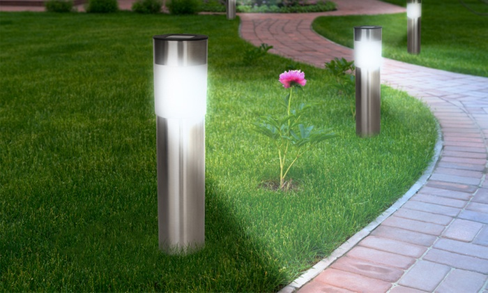 L mparas solares led para jard n groupon goods for Lamparas led para jardin