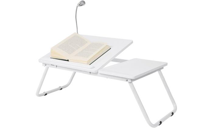 plateau de lit pour ordinateur groupon shopping. Black Bedroom Furniture Sets. Home Design Ideas